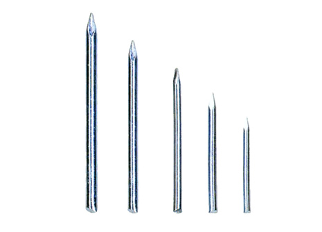 Common specification of concrete nails with no head: